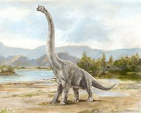 Dinosaur Illustration IV Fine Art Print