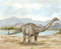 Dinosaur Illustration V Fine Art Print