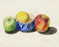 Still Life with Apples & Lemon I Fine Art Print