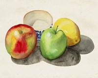 Still Life with Apples & Lemon II Fine Art Print