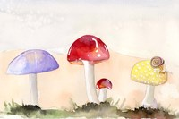 Faerie Mushrooms II Fine Art Print