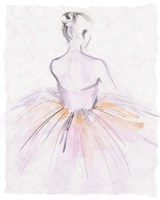 Watercolor Ballerina II Fine Art Print
