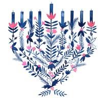 Boho Hanukkah II Fine Art Print