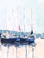 Watercolor Boat Club I Fine Art Print
