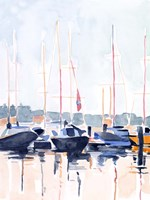 Watercolor Boat Club II Fine Art Print