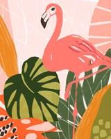 Jungle Flamingo I Fine Art Print