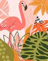 Jungle Flamingo II Fine Art Print
