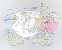 Swan Lake Song I Fine Art Print