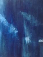 Azul Profundo Triptych III Fine Art Print