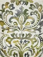 Verdant Damask II Fine Art Print