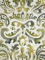 Verdant Damask III Fine Art Print