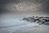 Stormy Beach in Cape May National Seashore, NJ Fine Art Print