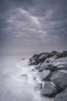 Stormy Shoreline, Cape May National Seashore, NJ Fine Art Print