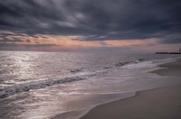 Sunset on Shore, Cape May National Seashore, NJ Fine Art Print