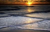 Sunset Reflection On Beach, Cape May NJ Fine Art Print