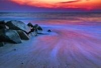 Sunset On Delaware Bay, Cape May NJ Fine Art Print
