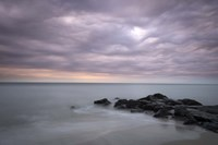Sunrise On Stormy Beach Landscape, Cape May National Seashore, NJ Fine Art Print