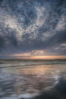 Overcast Sunrise On Shore, Cape May National Seashore, NJ Fine Art Print