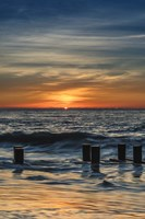 Sunrise On Winter Shoreline 3, Cape May National Seashore, NJ Fine Art Print