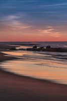 Sunrise On Winter Shoreline 4, Cape May National Seashore, NJ Fine Art Print