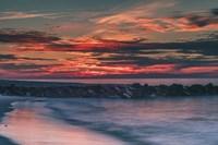 Sunrise On Winter Shoreline 6, Cape May National Seashore, NJ Fine Art Print