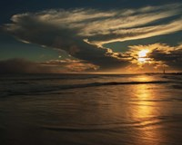 Sunrise On Ocean Shore 4, Cape May National Seashore, NJ Fine Art Print