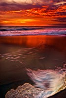Sunset Reflection on Beach 1, Cape May, NJ Fine Art Print