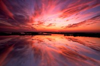 Sunset Reflection on Beach 3, Cape May, NJ Fine Art Print