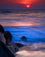 Sunset Reflection on Beach 4, Cape May, NJ Fine Art Print