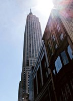 Empire State Building From Street Fine Art Print