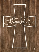 Thankful Cross Fine Art Print