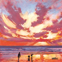 Searching for Sand Dollars Fine Art Print