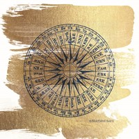 Brushed Gold Compass Fine Art Print