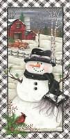 Rusty Truck Snowman Fine Art Print