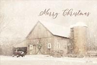 Merry Christmas Farm Fine Art Print
