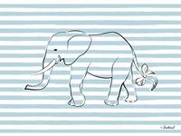 Elephant in Stripes Fine Art Print