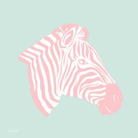 Sweet Pink Zebra Fine Art Print