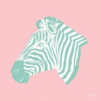Sweet Green Zebra Fine Art Print