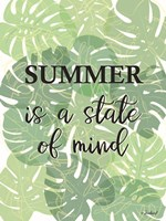 Tropical Summer Quote Fine Art Print