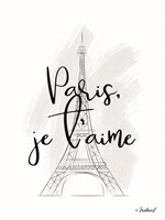 I Love Paris Fine Art Print