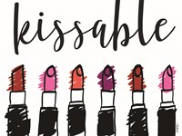 Kissable with Lipsticks Fine Art Print
