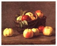 Pommes Dans un Panier Fine Art Print