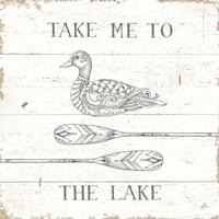 Lake Sketches VII Fine Art Print