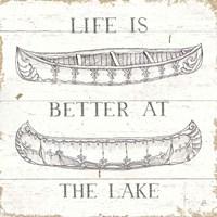 Lake Sketches V Fine Art Print