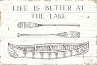 Lake Sketches II Fine Art Print