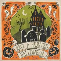 Stay Creepy III Orange Framed Print
