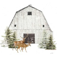 Wooded Holiday VI Fine Art Print