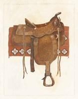 Western Saddle I Light Fine Art Print