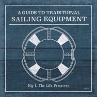 Vintage Sailing Knots X Framed Print