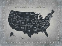 Riveting USA Map Fine Art Print